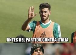 Enlace a Ceballos después de su partido contra Italia