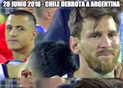 Enlace a Ni Messi ni Cristiano pueden con Chile