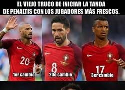 Enlace a A Portugal no le salió el truco de lanzar los primeros penaltis con los cambios