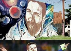 Enlace a Sacan otro graffitti de Messi en Rosario