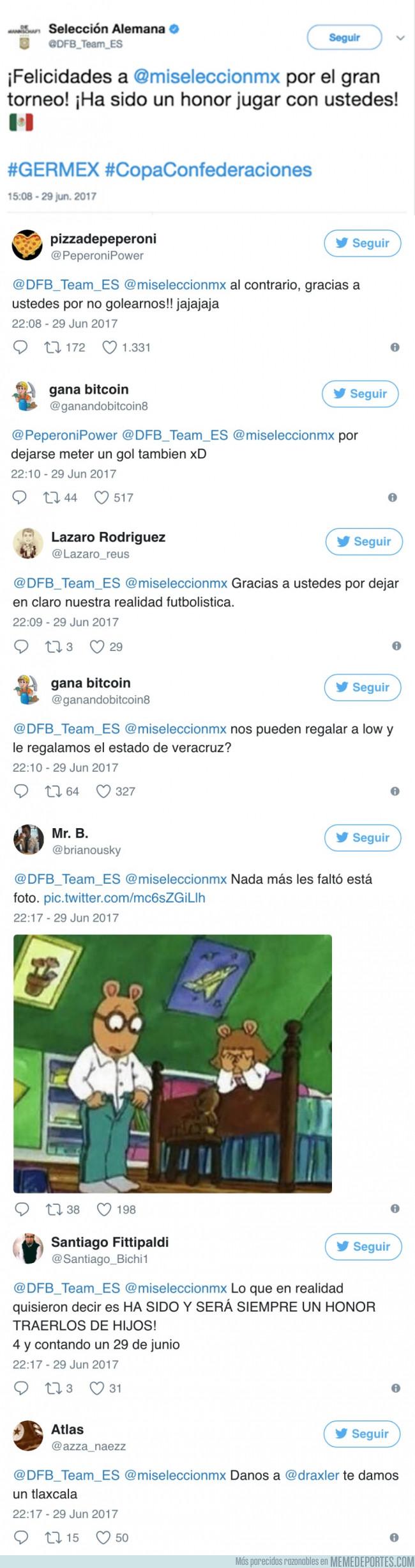 984787 - Alemania felicita a México en Twitter y los mexicanos contestaron con joyas