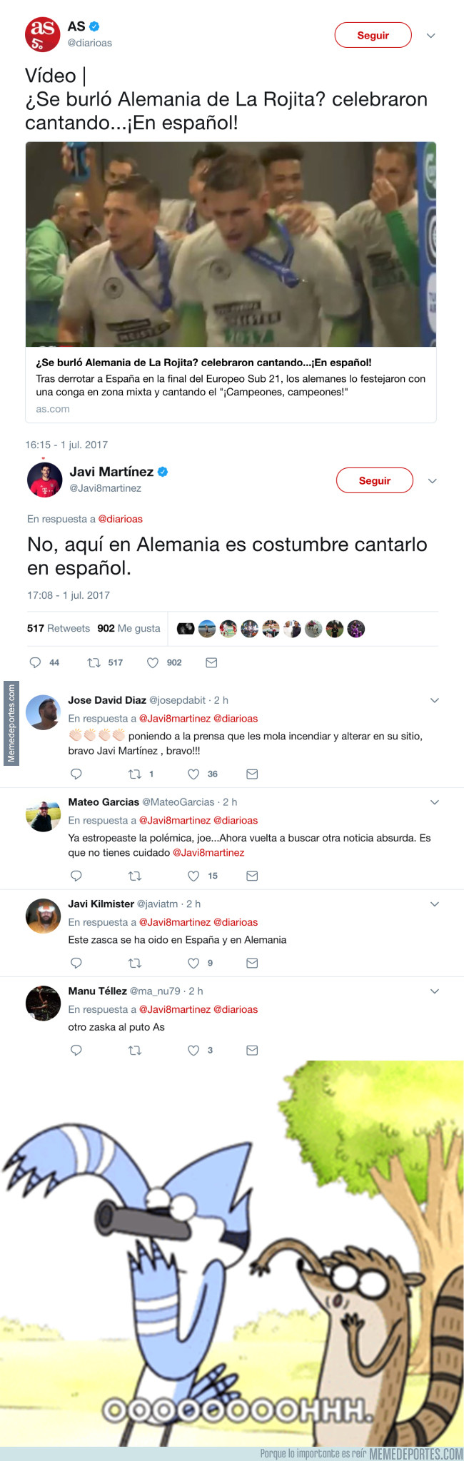 985084 - ZASCA tremendo de Javi Martínez al diario AS tras su periodismo basura
