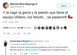 Enlace a Marcelo Ríos le envía un mensaje de apoyo a Chile y un hincha da un respuesta hilarante