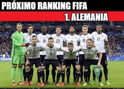 Enlace a Ranking FIFA actualizado: Alemania domina y el 4to para no perder la costumbre...