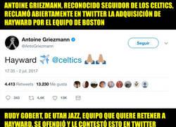 Enlace a La callada de boca de un jugador de la NBA a Griezmann por meterse en sus fichajes