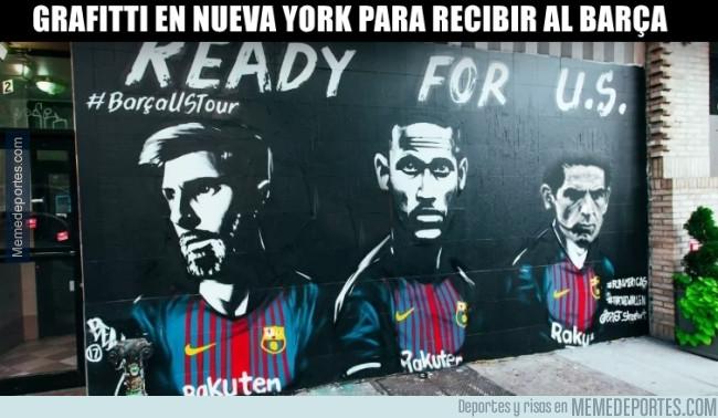 985845 - En Nueva York ya están listos para recibir al Barça