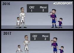 Enlace a Cristiano supera a Messi por fin (en hijos)