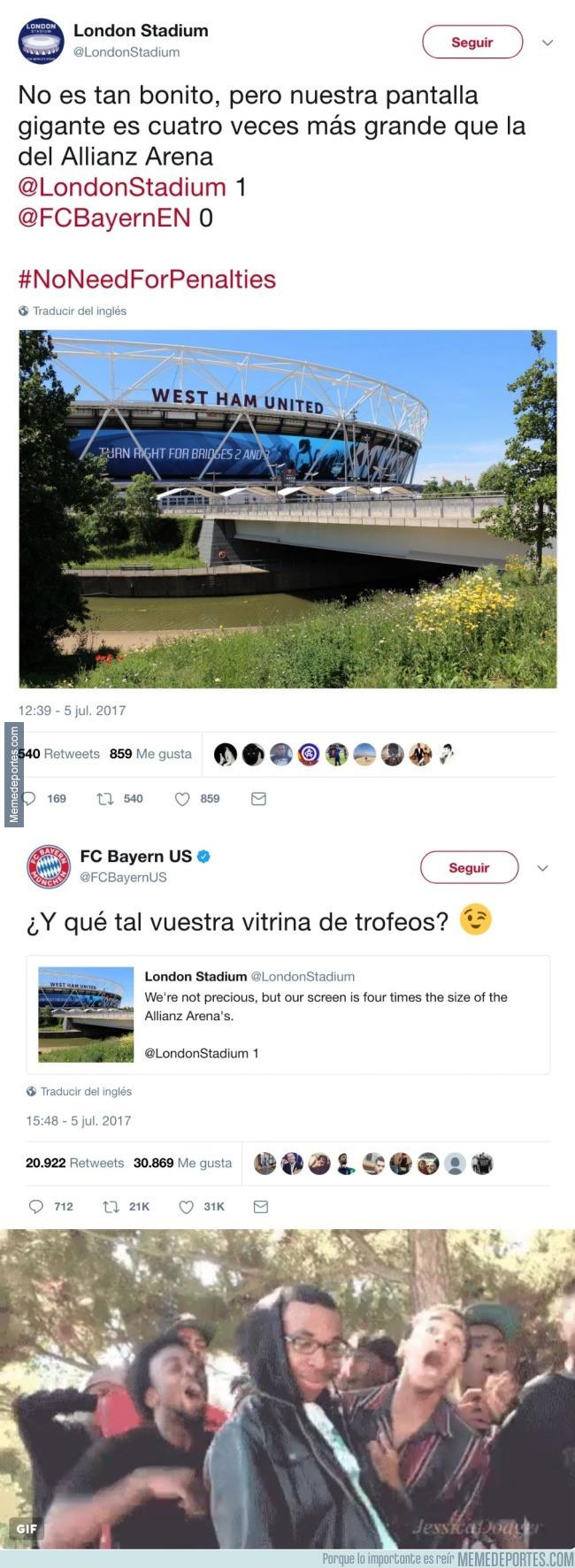 986319 - La vacilada del Bayern de Munich al West Ham en twitter