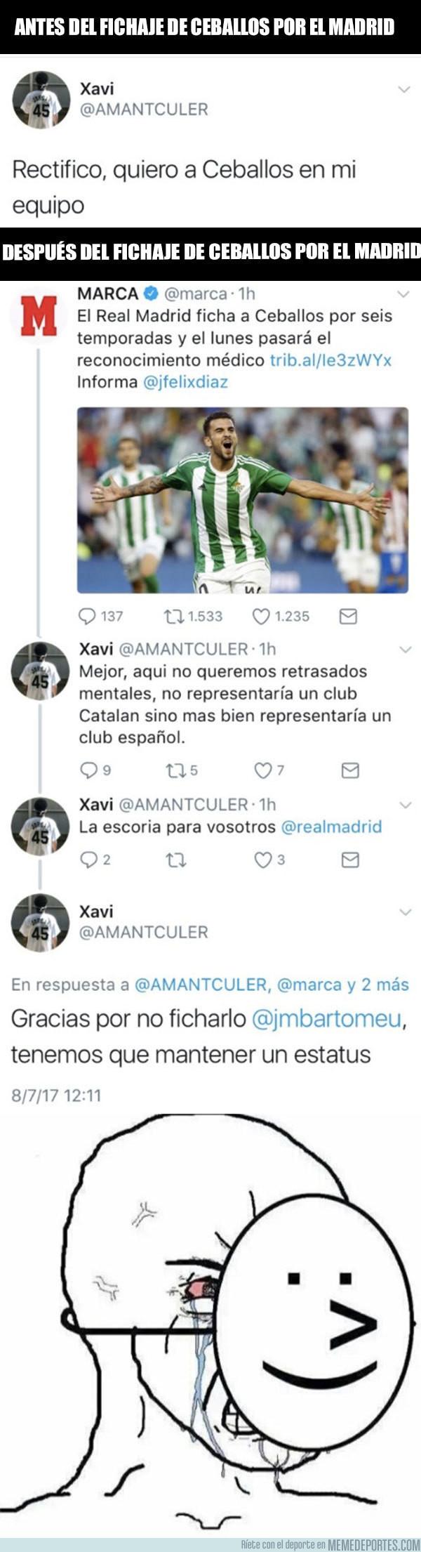 986677 - El doble rasero de este culé tras enterarse del fichaje de Ceballos por el Madrid