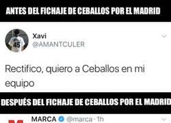 Enlace a El doble rasero de este culé tras enterarse del fichaje de Ceballos por el Madrid