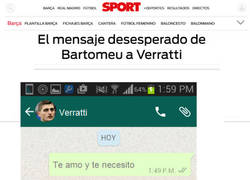 Enlace a El mensajes desesperado de Bartomeu a Verrarri