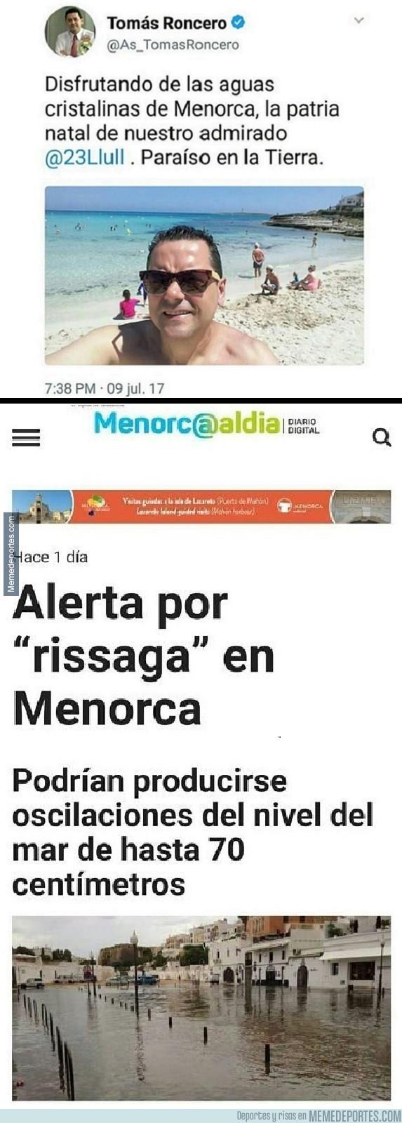 986986 - Roncero la vuelve a liar con su gafe, y ahora el damnificado es Menorca