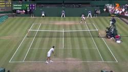 Enlace a Increíble el resto de Federer que la deja pegada a la red