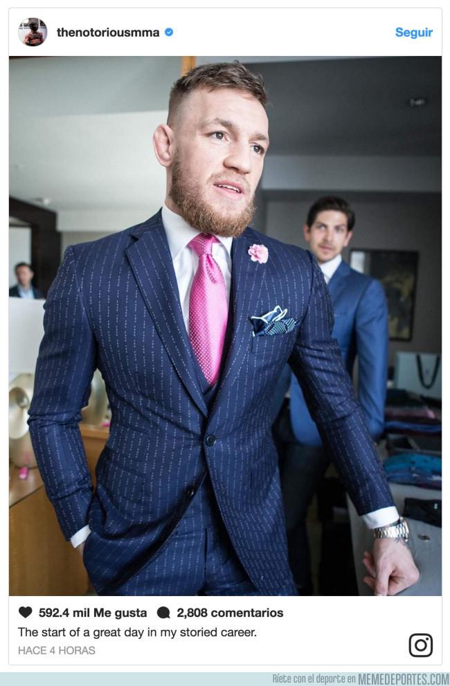 987210 - El mensaje escondido para Mayweather en el traje de Conor McGregor