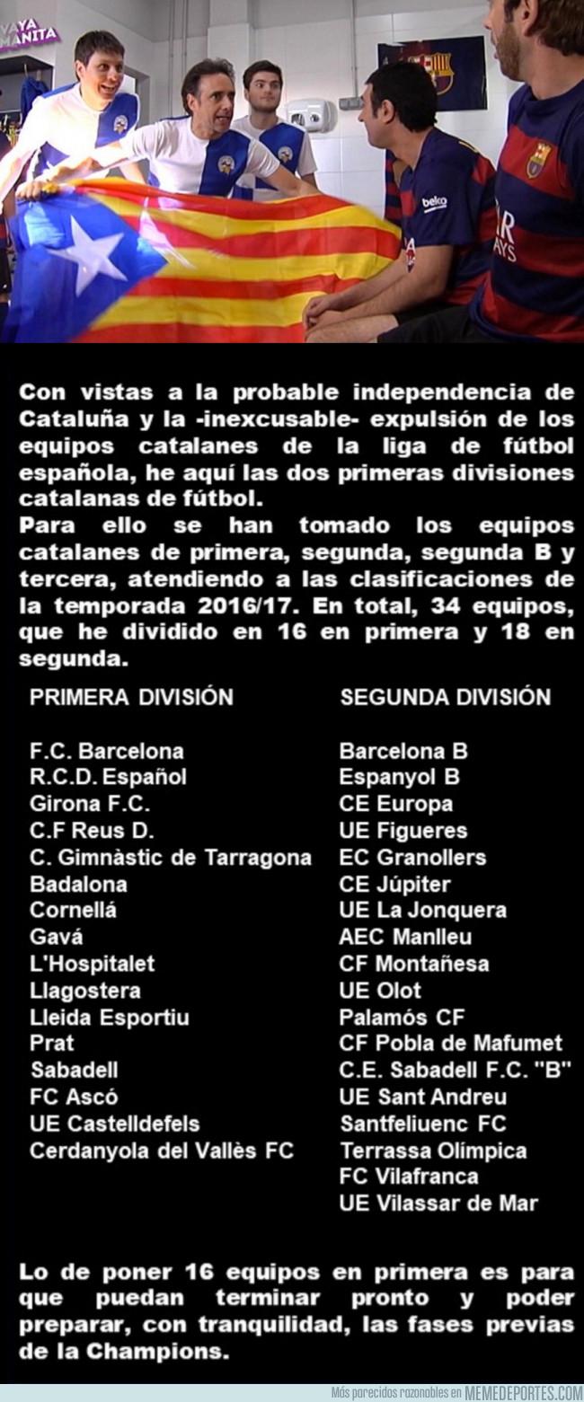 987221 - Usuario define cómo serían Primera y Segunda División Catalanas si Catalunya se independizara