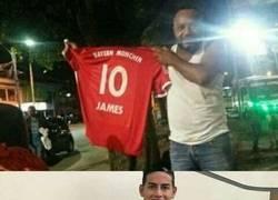 Enlace a El fail épico de un colombiano que se compró la camiseta del Bayern de James