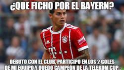 Enlace a James ya sabe ganar con el Bayern