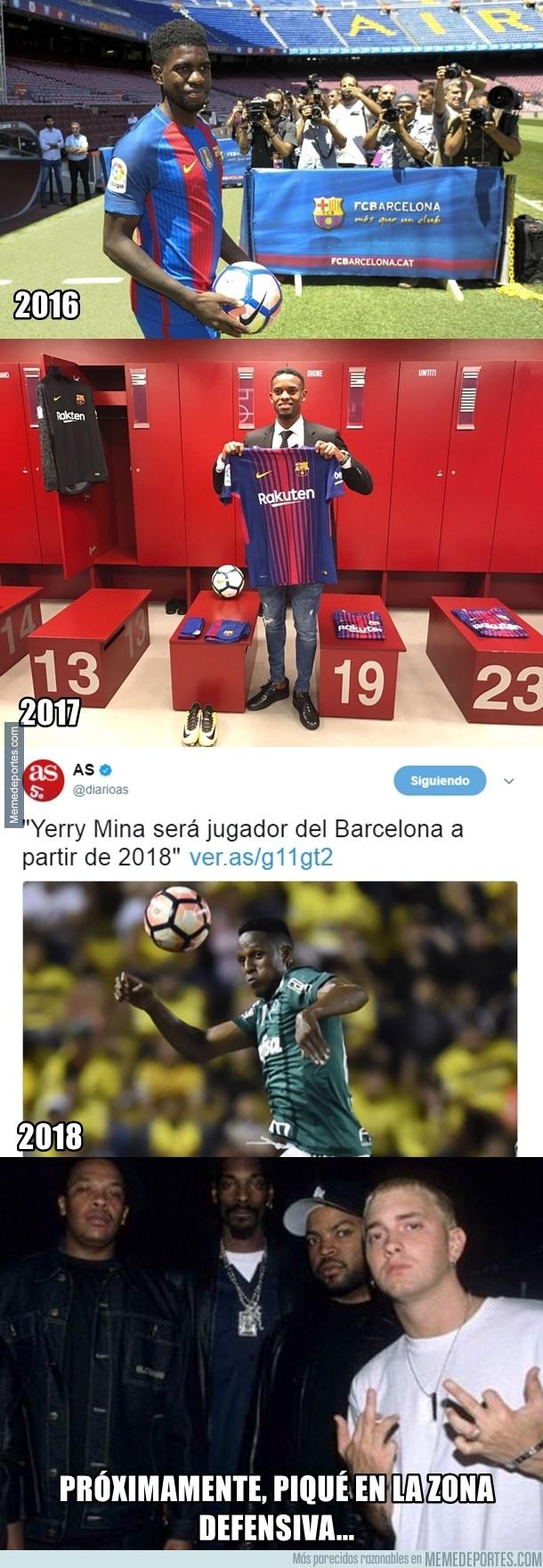 988109 - La defensa del Barça comienza a parecerse a una cárcel