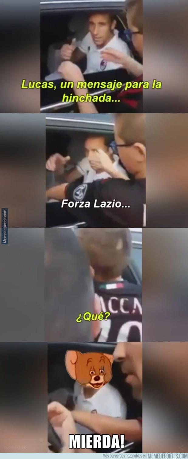 988127 - Garrafal error de Lucas Biglia con hinchas del Milan
