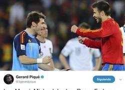 Enlace a Piqué y Casillas 'discuten' en Twitter sobre los mejores deportistas que han visto en su vida