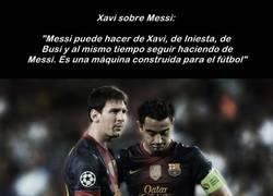 Enlace a Elogio de Xavi sobre Messi