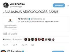 Enlace a Trolean a todos los culés con esta noticia oficial del FCBarcelona sobre Neymar y les da un infarto