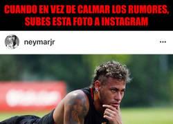 Enlace a Neymar enciende todas las luces rojas al subir esta foto a Instagram y Verratti le da like