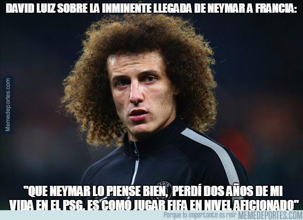 989053 - El consejo de David Luiz que tiró para atrás a Neymar para no ir al PSG