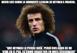 Enlace a El consejo de David Luiz que tiró para atrás a Neymar para no ir al PSG