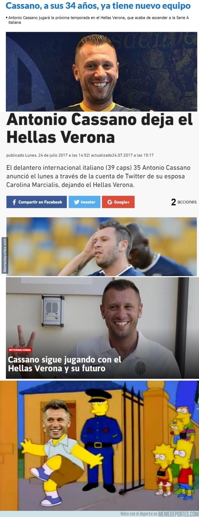 989133 - Cassano está peor de la cabeza que Neymar