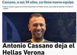 Enlace a Cassano está peor de la cabeza que Neymar