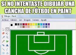 Enlace a Recuerdo de todo futbolero en Paint