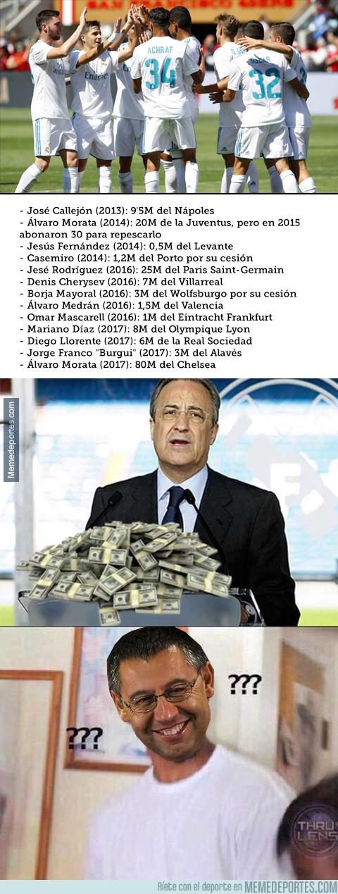 989229 - La cantidad que ha recaudado el Real Madrid por sus canteranos en las últimas 5 temporadas