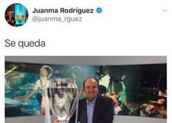 Enlace a Le pagan a Juanma Rodríguez con su misma medicina tras vacilar de Champions del Madrid
