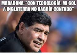 Enlace a Maradona:
