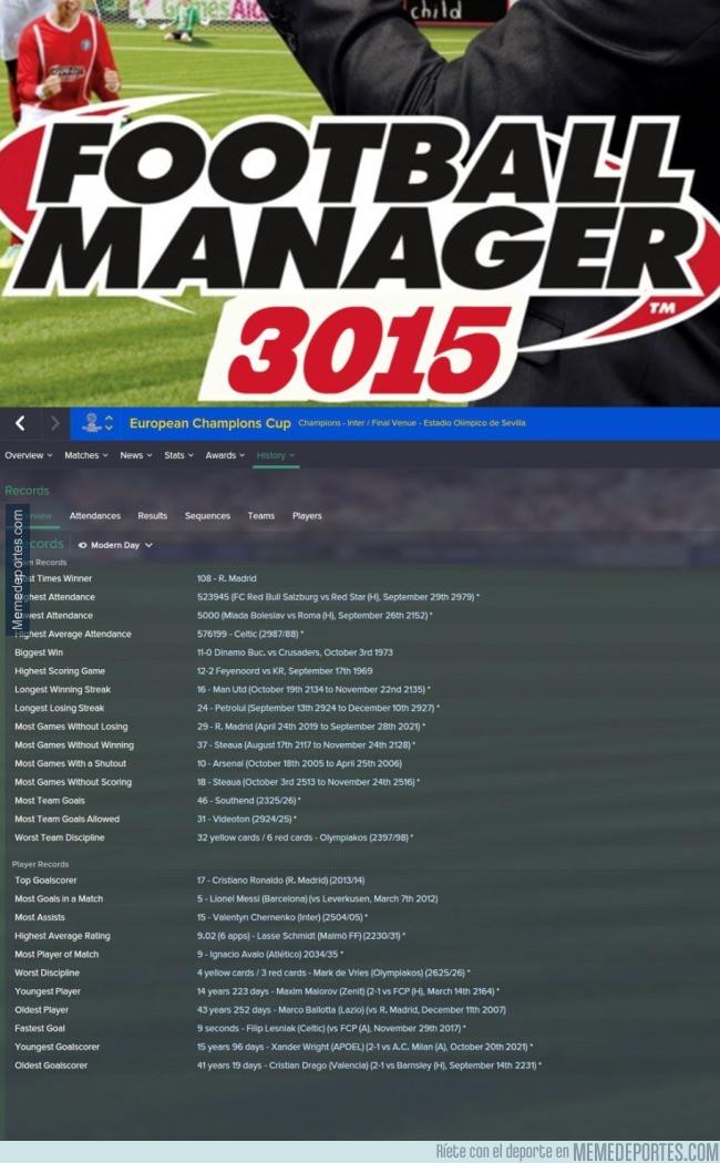 989385 - Simula 1.000 años en el Football Manager y esto fue lo que pasó