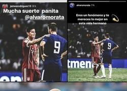 Enlace a Las cuentas de Instagram de James y Morata