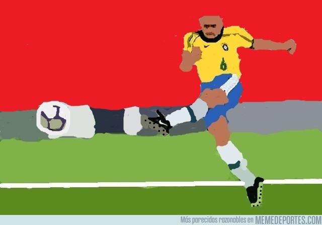 989489 - ¡El mejor gol de tiro libre de la historia!, por Roberto Carlos (Paint)