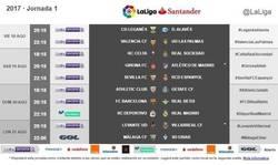 Enlace a Estos son los horarios de la primera jornada de Liga. Vía Marca