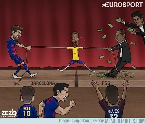 989722 - Así se siente Neymar en el Barcelona. Vía Zezo Cartoons