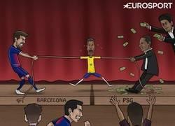 Enlace a Así se siente Neymar en el Barcelona. Vía Zezo Cartoons