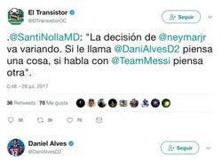 Enlace a Dani Alves pega un zasca a la prensa que dice que está convenciendo a Neymar para ir al PSG