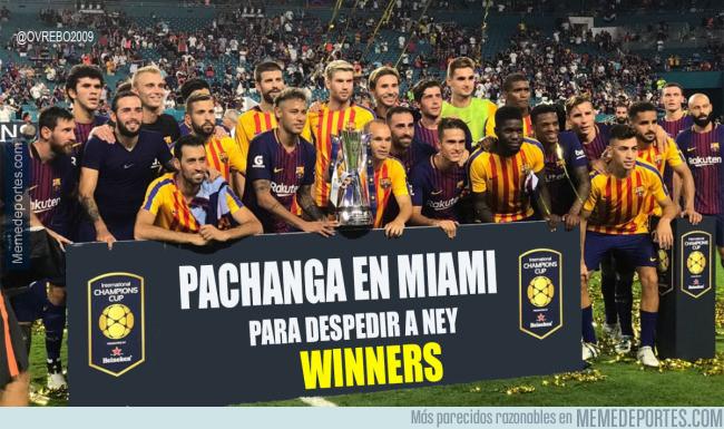 990177 - El título ganado por el Barça en Miami al Madrid