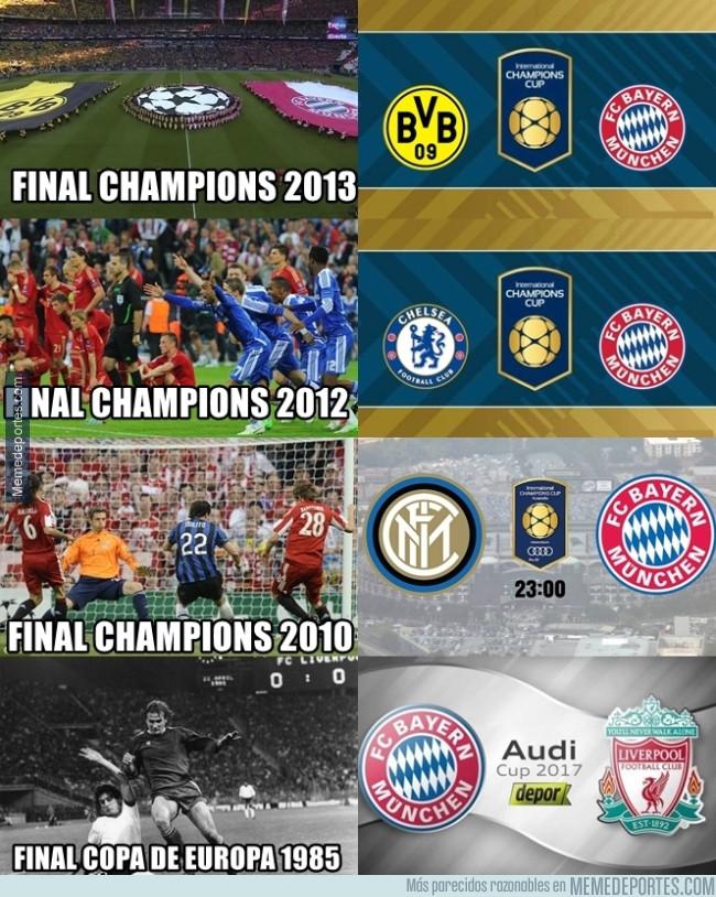 990551 - El Bayern está haciendo amistosos por cada final de copa de Europa jugada