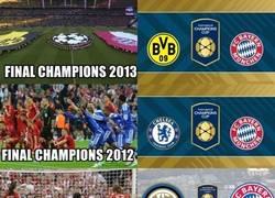 Enlace a El Bayern está haciendo amistosos por cada final de copa de Europa jugada