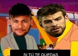 Enlace a Neymar despidiéndose de sus compañeros