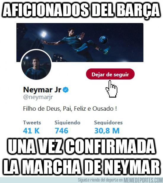 990823 - Aficionados del Barça dejando de seguir a Neymar en redes sociales