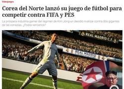 Enlace a Corea del norte lanza videojuego de futbol