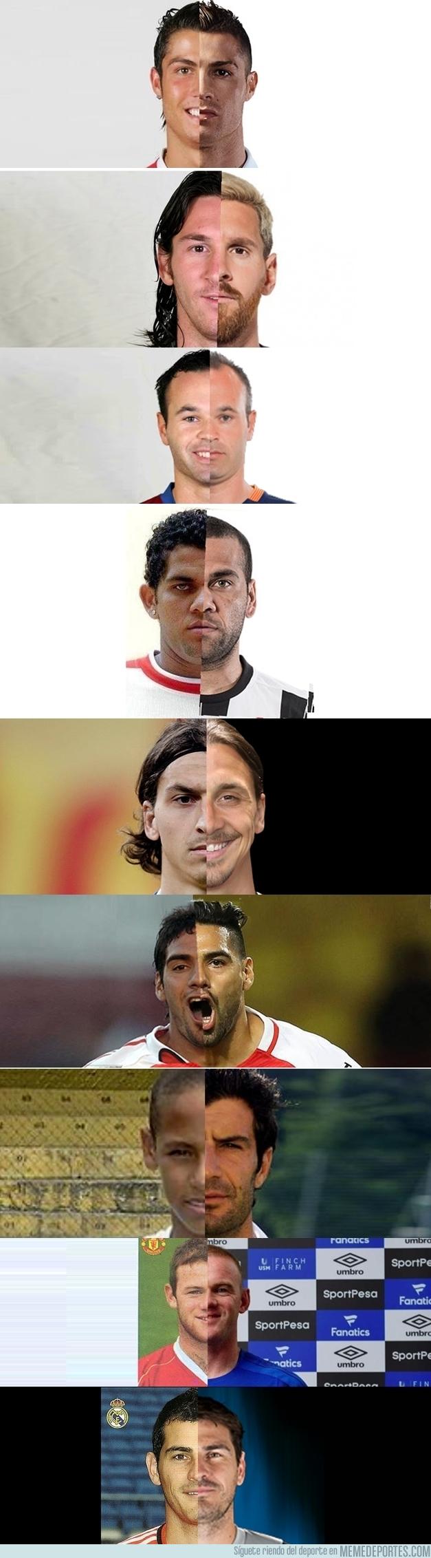 991243 - La evolución del aspecto de algunos jugadores en 10 años