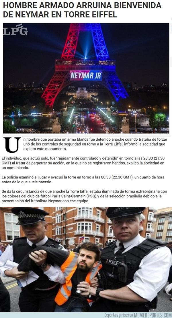 991655 - Alguien arruinó la bienvenida de la Torre Eiffel a Neymar